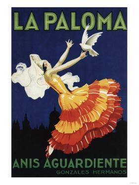 Spain - La Paloma - Anis Aguardiente Promotional Poster by Lantern Press