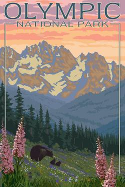 Spring Flowers, Olympic National Park by Lantern Press