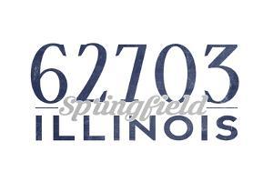 Springfield, Illinois - 62703 Zip Code (Blue) by Lantern Press