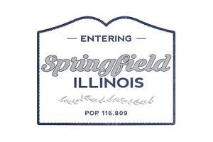 Springfield, Illinois - Now Entering (Blue) by Lantern Press