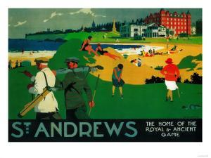 St. Andrews Vintage Poster - Europe by Lantern Press