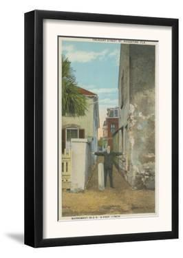 St. Augustine, FL - View of Treasury Street & Man by Lantern Press