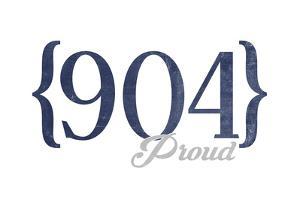 St. Augustine, Florida - 904 Area Code (Blue) by Lantern Press