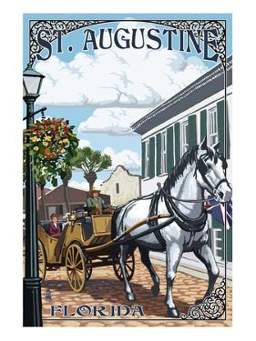 St. Augustine, Florida - Carriage Scene by Lantern Press
