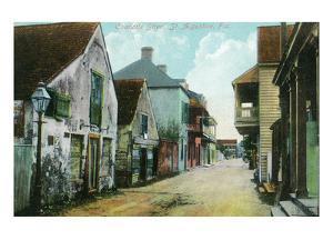 St. Augustine, Florida - Charlotte Street Scene by Lantern Press
