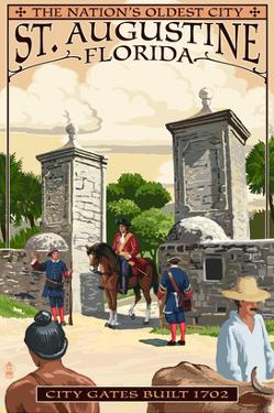 St. Augustine, Florida - City Gates by Lantern Press