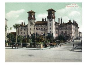 St. Augustine, Florida - Exterior View of Alcazar Hotel by Lantern Press