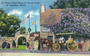 St. Augustine, Florida, Exterior View of the Oldest Schoolhouse, St. George Street by Lantern Press