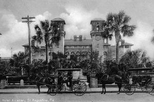St. Augustine, Florida - Hotel Alcazar Front Entrance View by Lantern Press
