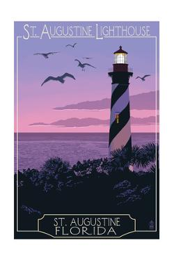 St. Augustine, Florida - Lighthouse by Lantern Press