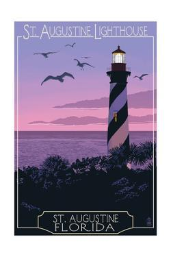 St. Augustine, Florida - Lighthouse by Lantern Press