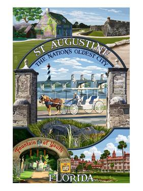 St. Augustine, Florida - Montage Scenes by Lantern Press