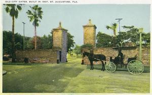 St. Augustine, Florida - Old City Gates View by Lantern Press