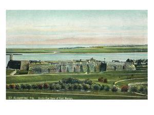St. Augustine, Florida - Panoramic View of Fort Marion by Lantern Press