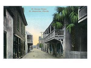 St. Augustine, Florida - St. George Street Scene by Lantern Press