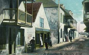 St. Augustine, Florida - View Down Charlotte Street by Lantern Press