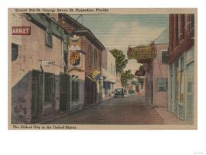 St. Augustine, Florida - View of St. George St. No.2 by Lantern Press