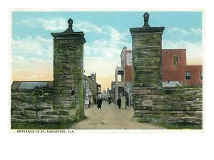 St. Augustine, Florida - View of the City Gates by Lantern Press