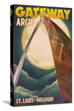 St. Louis, Missouri - Gateway Arch and Moon