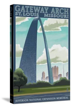 St. Louis, Missouri - Gateway Arch Lithography Style