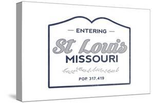 St. Louis, Missouri - Now Entering (Blue) by Lantern Press