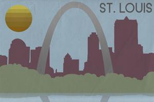 St. Louis, Missouri - Skyline by Lantern Press
