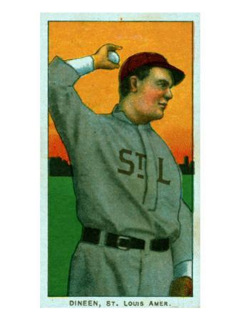St. Louis, MO, St. Louis Browns, Dineen, Baseball Card by Lantern Press
