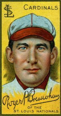 St. Louis, MO, St. Louis Cardinals, Roger Bresnahan, Baseball Card by Lantern Press