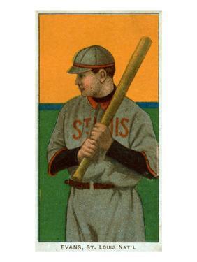 St. Louis, MO, St. Louis Cardinals, Steve Evans, Baseball Card by Lantern Press