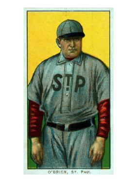 St. Paul, MN, St. Paul Minor League, Peter O'Brien, Baseball Card by Lantern Press