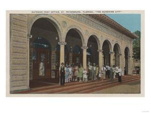 St. Petersburg, FL - Exterior View of Post Office by Lantern Press