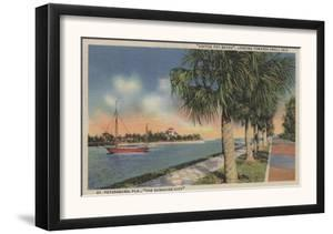 St. Petersburg, FL - View of Coffee Pot Bayou & Isle by Lantern Press