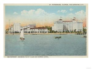 St. Petersburg, FL - Waterfront View of Soreno Hotel by Lantern Press