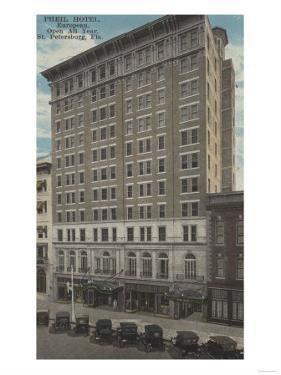 St. Petersburg, Florida - Exterior View of Pheil Hotel by Lantern Press