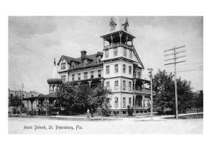St. Petersburg, Florida - Hotel Detroit Exterior View by Lantern Press