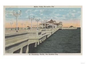 St. Petersburg, Florida - View of Million Dollar Pier by Lantern Press