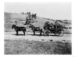 Stagecoach at Yellowstone National Park Photograph - Yellowstone, WY by Lantern Press