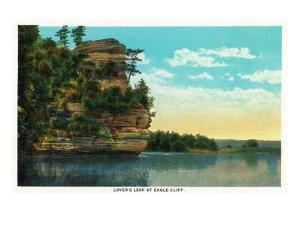 Starved Rock State Park, IL, View of Lover's Leap at Eagle Cliff by Lantern Press