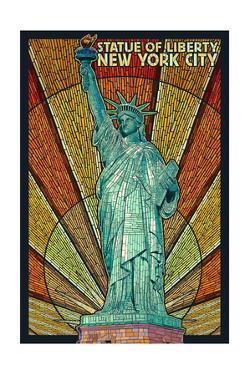 Statue of Liberty Mosaic - New York City, New York by Lantern Press
