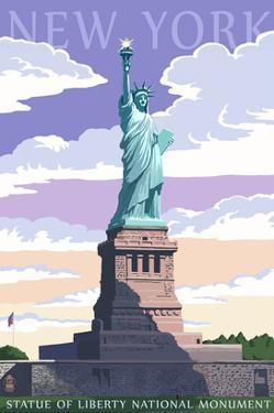 Statue of Liberty National Monument - New York City, NY by Lantern Press