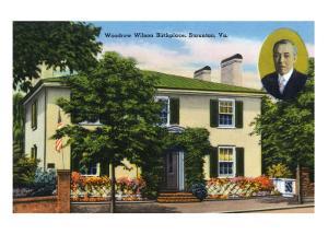 Staunton, Virginia, Exterior View of Woodrow Wilson's Birthplace by Lantern Press