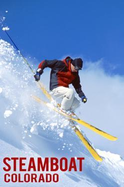 Steamboat, Colorado - Skier by Lantern Press