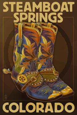 Steamboat Springs, Colorado - Boot Pair by Lantern Press