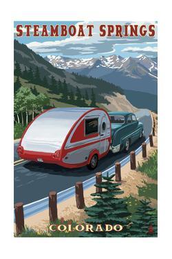 Steamboat Springs, Colorado - Retro Camper by Lantern Press