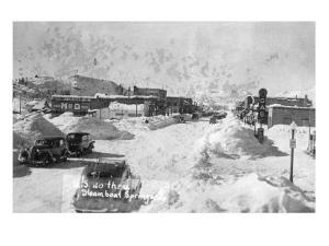 Steamboat Springs, Colorado - Snowy Street Scene by Lantern Press
