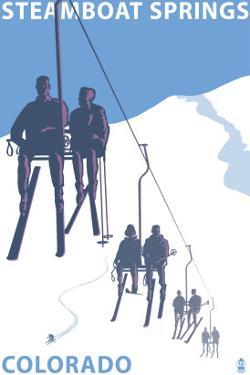 Steamboat Springs, Ski Lift by Lantern Press