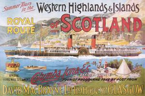 Steamship Royal Route of Scotland - Vintage Poster by Lantern Press