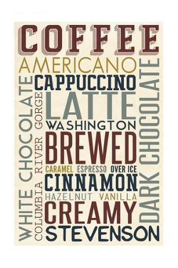 Stevenson, Washington - Coffee - Typography by Lantern Press