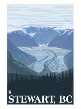 Stewart, BC - Glacier Scene by Lantern Press