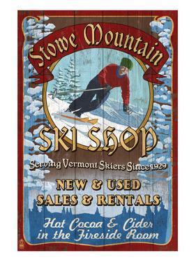 Stowe Mountain, Vermont - Ski Shop by Lantern Press